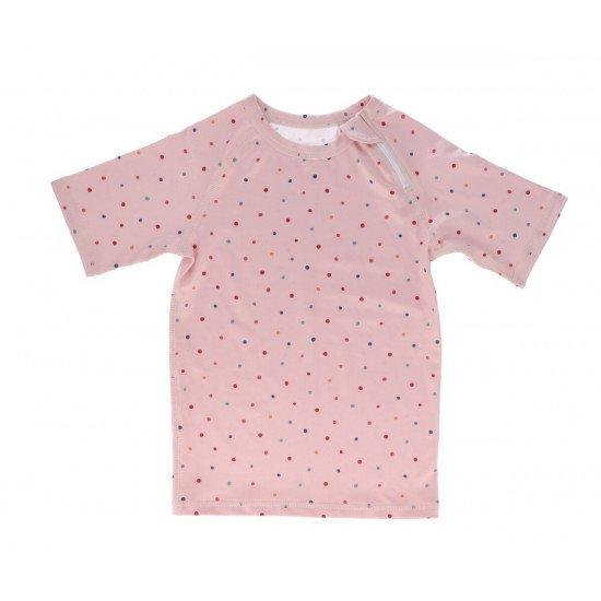 Camiseta Protección Solar Dots Rosa